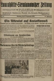 Laurahütte-Siemianowitzer Zeitung : enzige älteste und gelesenste Zeitung von Laurahütte-Siemianowitz mit wöchentlicher Unterhaitungsbeilage. 1929, nr142