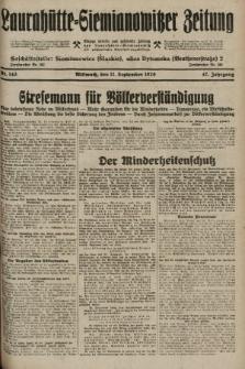 Laurahütte-Siemianowitzer Zeitung : enzige älteste und gelesenste Zeitung von Laurahütte-Siemianowitz mit wöchentlicher Unterhaitungsbeilage. 1929, nr143
