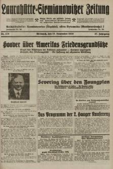Laurahütte-Siemianowitzer Zeitung : enzige älteste und gelesenste Zeitung von Laurahütte-Siemianowitz mit wöchentlicher Unterhaitungsbeilage. 1929, nr179