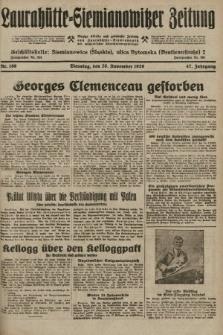 Laurahütte-Siemianowitzer Zeitung : enzige älteste und gelesenste Zeitung von Laurahütte-Siemianowitz mit wöchentlicher Unterhaitungsbeilage. 1929, nr186