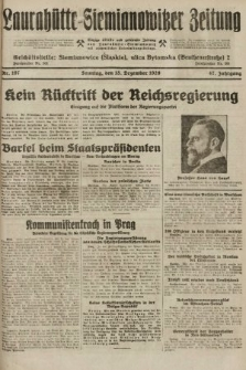 Laurahütte-Siemianowitzer Zeitung : enzige älteste und gelesenste Zeitung von Laurahütte-Siemianowitz mit wöchentlicher Unterhaitungsbeilage. 1929, nr197