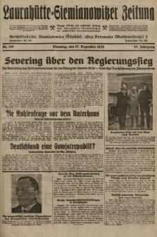 Laurahütte-Siemianowitzer Zeitung : enzige älteste und gelesenste Zeitung von Laurahütte-Siemianowitz mit wöchentlicher Unterhaitungsbeilage. 1929, nr198