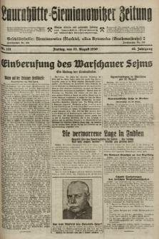 Laurahütte-Siemianowitzer Zeitung : enzige älteste und gelesenste Zeitung von Laurahütte-Siemianowitz mit wöchentlicher Unterhaitungsbeilage. 1930, nr131