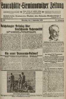 Laurahütte-Siemianowitzer Zeitung : enzige älteste und gelesenste Zeitung von Laurahütte-Siemianowitz mit wöchentlicher Unterhaitungsbeilage. 1930, nr137
