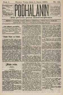 Podhalanin : pismo poświęcone sprawom ekonomiczno-społecznym. R.1, 1899, nr13
