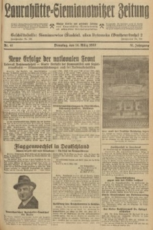 Laurahütte-Siemianowitzer Zeitung : enzige älteste und gelesenste Zeitung von Laurahütte-Siemianowitz mit wöchentlicher Unterhaitungsbeilage. 1933, nr41