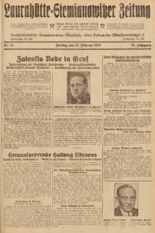 Laurahütte-Siemianowitzer Zeitung : enzige älteste und gelesenste Zeitung von Laurahütte-Siemianowitz mit wöchentlicher Unterhaitungsbeilage. 1932, nr24