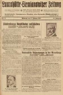 Laurahütte-Siemianowitzer Zeitung : enzige älteste und gelesenste Zeitung von Laurahütte-Siemianowitz mit wöchentlicher Unterhaitungsbeilage. 1932, nr27