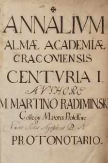 """Annalium Almae Academiae Cracoviensis"""