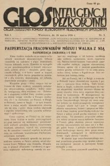 Głos Inteligencji Bezrobotnej : organ Zrzeszenia Pomocy Bezrobotnym Pracownikom Umysłowym. 1926, nr3