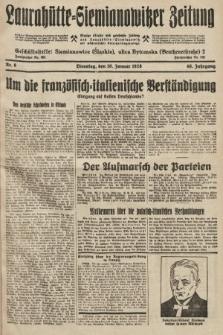 Laurahütte-Siemianowitzer Zeitung : enzige älteste und gelesenste Zeitung von Laurahütte-Siemianowitz mit wöchentlicher Unterhaitungsbeilage. 1928, nr6
