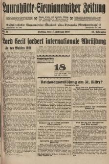 Laurahütte-Siemianowitzer Zeitung : enzige älteste und gelesenste Zeitung von Laurahütte-Siemianowitz mit wöchentlicher Unterhaitungsbeilage. 1928, nr28