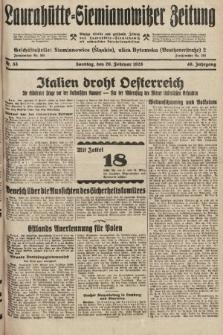 Laurahütte-Siemianowitzer Zeitung : enzige älteste und gelesenste Zeitung von Laurahütte-Siemianowitz mit wöchentlicher Unterhaitungsbeilage. 1928, nr33