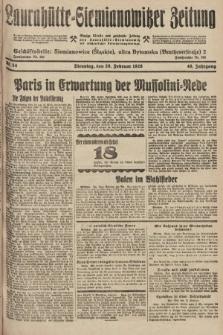 Laurahütte-Siemianowitzer Zeitung : enzige älteste und gelesenste Zeitung von Laurahütte-Siemianowitz mit wöchentlicher Unterhaitungsbeilage. 1928, nr34