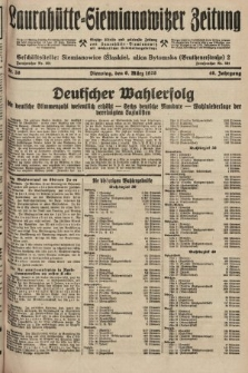 Laurahütte-Siemianowitzer Zeitung : enzige älteste und gelesenste Zeitung von Laurahütte-Siemianowitz mit wöchentlicher Unterhaitungsbeilage. 1928, nr38