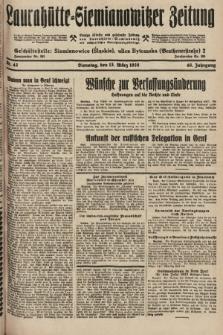 Laurahütte-Siemianowitzer Zeitung : enzige älteste und gelesenste Zeitung von Laurahütte-Siemianowitz mit wöchentlicher Unterhaitungsbeilage. 1928, nr42