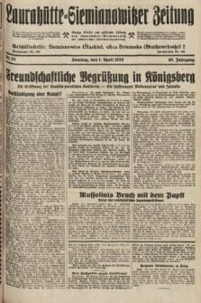 Laurahütte-Siemianowitzer Zeitung : enzige älteste und gelesenste Zeitung von Laurahütte-Siemianowitz mit wöchentlicher Unterhaitungsbeilage. 1928, nr53