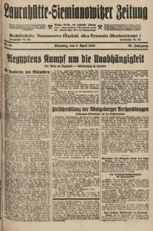 Laurahütte-Siemianowitzer Zeitung : enzige älteste und gelesenste Zeitung von Laurahütte-Siemianowitz mit wöchentlicher Unterhaitungsbeilage. 1928, nr54