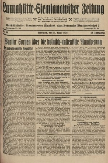 Laurahütte-Siemianowitzer Zeitung : enzige älteste und gelesenste Zeitung von Laurahütte-Siemianowitz mit wöchentlicher Unterhaitungsbeilage. 1928, nr58