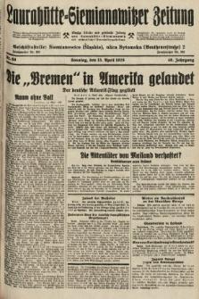 Laurahütte-Siemianowitzer Zeitung : enzige älteste und gelesenste Zeitung von Laurahütte-Siemianowitz mit wöchentlicher Unterhaitungsbeilage. 1928, nr60
