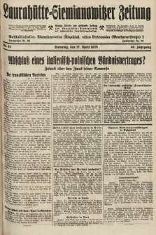 Laurahütte-Siemianowitzer Zeitung : enzige älteste und gelesenste Zeitung von Laurahütte-Siemianowitz mit wöchentlicher Unterhaitungsbeilage. 1928, nr61