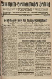 Laurahütte-Siemianowitzer Zeitung : enzige älteste und gelesenste Zeitung von Laurahütte-Siemianowitz mit wöchentlicher Unterhaitungsbeilage. 1928, nr63
