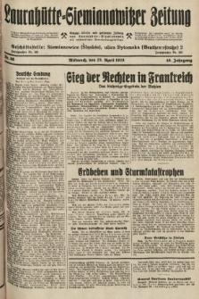 Laurahütte-Siemianowitzer Zeitung : enzige älteste und gelesenste Zeitung von Laurahütte-Siemianowitz mit wöchentlicher Unterhaitungsbeilage. 1928, nr66