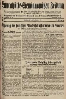 Laurahütte-Siemianowitzer Zeitung : enzige älteste und gelesenste Zeitung von Laurahütte-Siemianowitz mit wöchentlicher Unterhaitungsbeilage. 1928, nr70