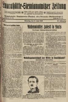 Laurahütte-Siemianowitzer Zeitung : enzige älteste und gelesenste Zeitung von Laurahütte-Siemianowitz mit wöchentlicher Unterhaitungsbeilage. 1928, nr92