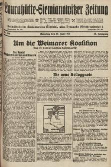 Laurahütte-Siemianowitzer Zeitung : enzige älteste und gelesenste Zeitung von Laurahütte-Siemianowitz mit wöchentlicher Unterhaitungsbeilage. 1928, nr100
