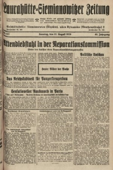 Laurahütte-Siemianowitzer Zeitung : enzige älteste und gelesenste Zeitung von Laurahütte-Siemianowitz mit wöchentlicher Unterhaitungsbeilage. 1928, nr127