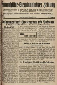 Laurahütte-Siemianowitzer Zeitung : enzige älteste und gelesenste Zeitung von Laurahütte-Siemianowitz mit wöchentlicher Unterhaitungsbeilage. 1928, nr135
