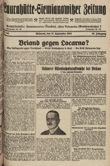 Laurahütte-Siemianowitzer Zeitung : enzige älteste und gelesenste Zeitung von Laurahütte-Siemianowitz mit wöchentlicher Unterhaitungsbeilage. 1928, nr145