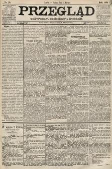 Przegląd polityczny, społeczny i literacki. 1889, nr28