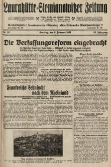 Laurahütte-Siemianowitzer Zeitung : enzige älteste und gelesenste Zeitung von Laurahütte-Siemianowitz mit wöchentlicher Unterhaitungsbeilage. 1931, nr20