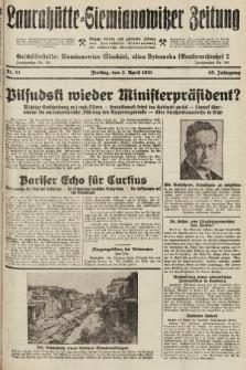 Laurahütte-Siemianowitzer Zeitung : enzige älteste und gelesenste Zeitung von Laurahütte-Siemianowitz mit wöchentlicher Unterhaitungsbeilage. 1931, nr51