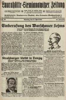 Laurahütte-Siemianowitzer Zeitung : enzige älteste und gelesenste Zeitung von Laurahütte-Siemianowitz mit wöchentlicher Unterhaitungsbeilage. 1931, nr60