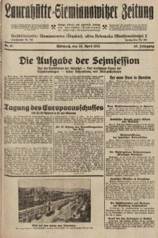 Laurahütte-Siemianowitzer Zeitung : enzige älteste und gelesenste Zeitung von Laurahütte-Siemianowitz mit wöchentlicher Unterhaitungsbeilage. 1931, nr61