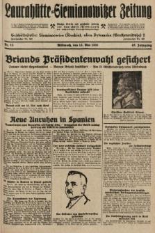 Laurahütte-Siemianowitzer Zeitung : enzige älteste und gelesenste Zeitung von Laurahütte-Siemianowitz mit wöchentlicher Unterhaitungsbeilage. 1931, nr73