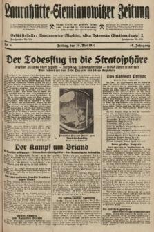Laurahütte-Siemianowitzer Zeitung : enzige älteste und gelesenste Zeitung von Laurahütte-Siemianowitz mit wöchentlicher Unterhaitungsbeilage. 1931, nr81