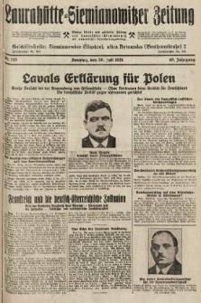 Laurahütte-Siemianowitzer Zeitung : enzige älteste und gelesenste Zeitung von Laurahütte-Siemianowitz mit wöchentlicher Unterhaitungsbeilage. 1931, nr113