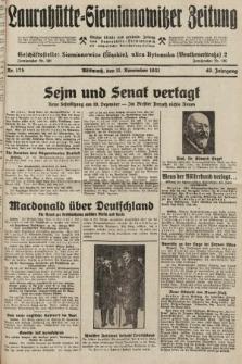 Laurahütte-Siemianowitzer Zeitung : enzige älteste und gelesenste Zeitung von Laurahütte-Siemianowitz mit wöchentlicher Unterhaitungsbeilage. 1931, nr175