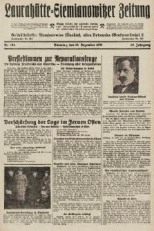 Laurahütte-Siemianowitzer Zeitung : enzige älteste und gelesenste Zeitung von Laurahütte-Siemianowitz mit wöchentlicher Unterhaitungsbeilage. 1931, nr194