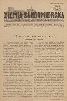 Ziemia Sandomierska : czasopismo samorządowo-społeczne. R. III, 1931, nr 8