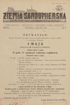 Ziemia Sandomierska : czasopismo samorządowo-społeczne. R. III, 1931, nr 9