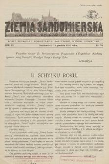 Ziemia Sandomierska : czasopismo samorządowo-społeczne. R. III, 1931, nr 24