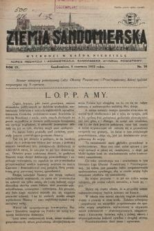 Ziemia Sandomierska : czasopismo samorządowo-społeczne. R. IV, 1932, nr 20