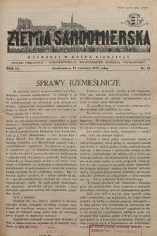 Ziemia Sandomierska : czasopismo samorządowo-społeczne. R. IV, 1932, nr 21