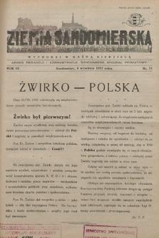 Ziemia Sandomierska : czasopismo samorządowo-społeczne. R. IV, 1932, nr 33