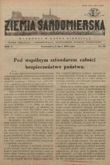 Ziemia Sandomierska : czasopismo samorządowo-społeczne. R. V, 1933, nr 28
